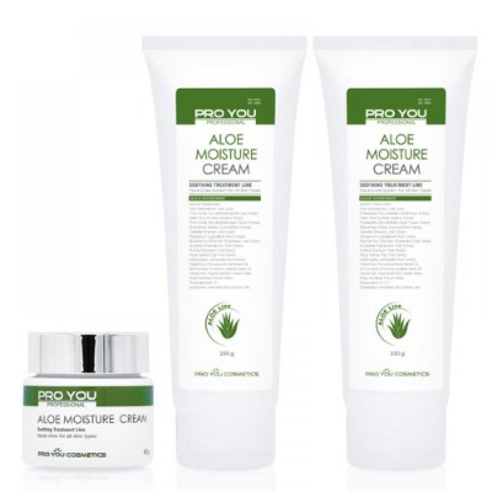 Крем с экстрактом алое Pro You Aloe Moisture Cream для интенсивного увлажнения кожи, 250 мл