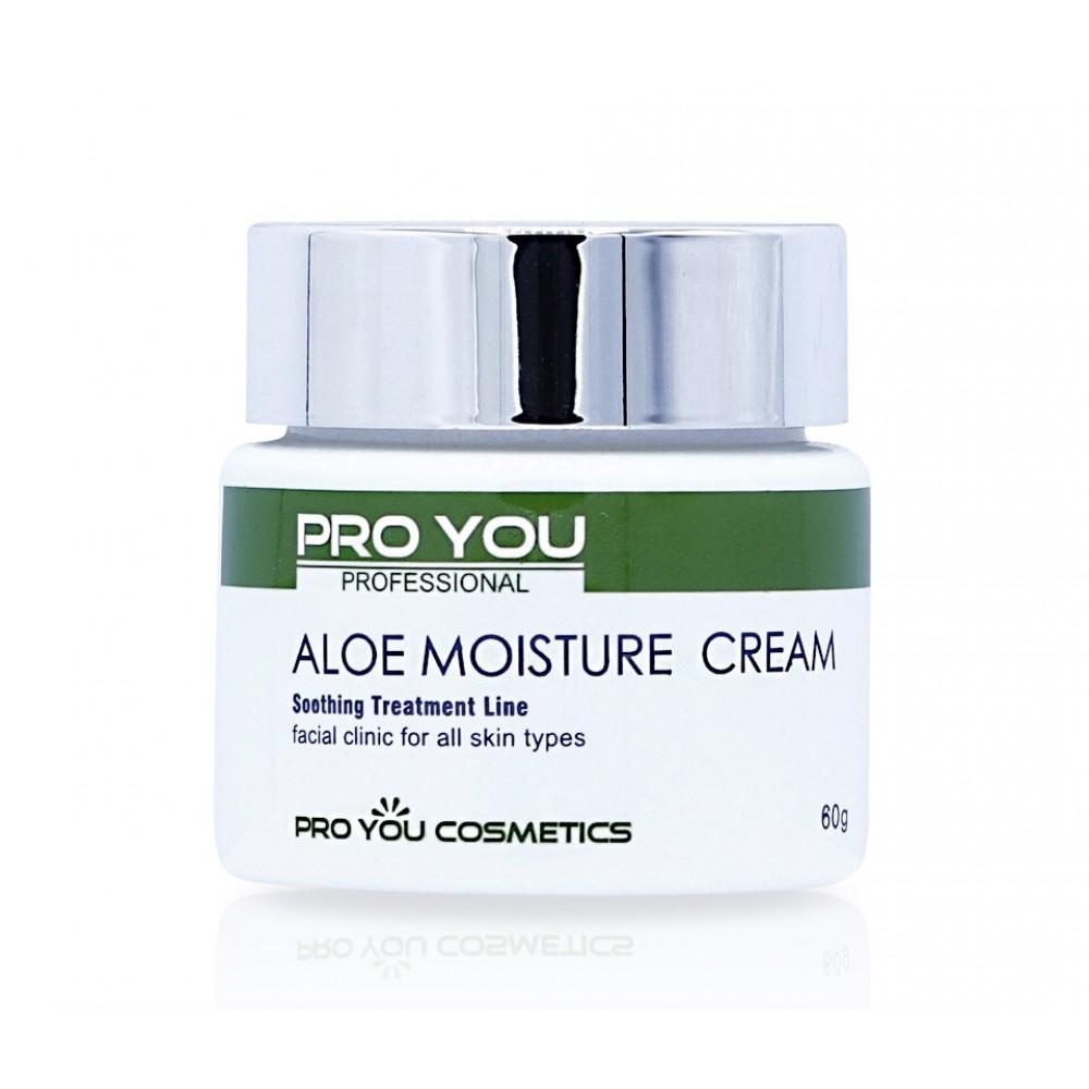 Крем с экстрактом алое Pro You Aloe Moisture Cream для интенсивного увлажнения кожи, 60 мл