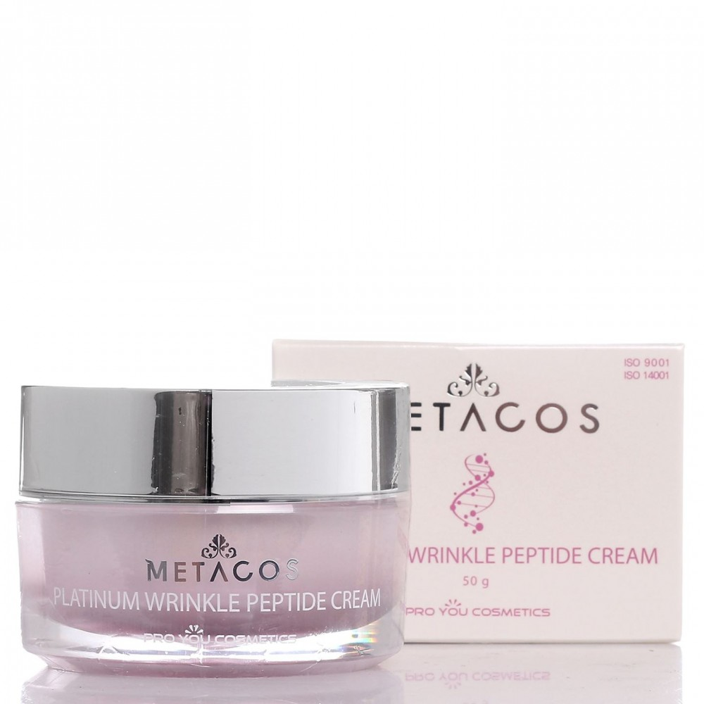 Крем против морщин с платиной и пептидами Metacos Platinum Wrinkle Peptide Cream