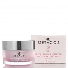 Крем с пептидами для глаз и зоны декольте Metacos Platinum Wrinkle Peptide Eye&Decollete Cream
